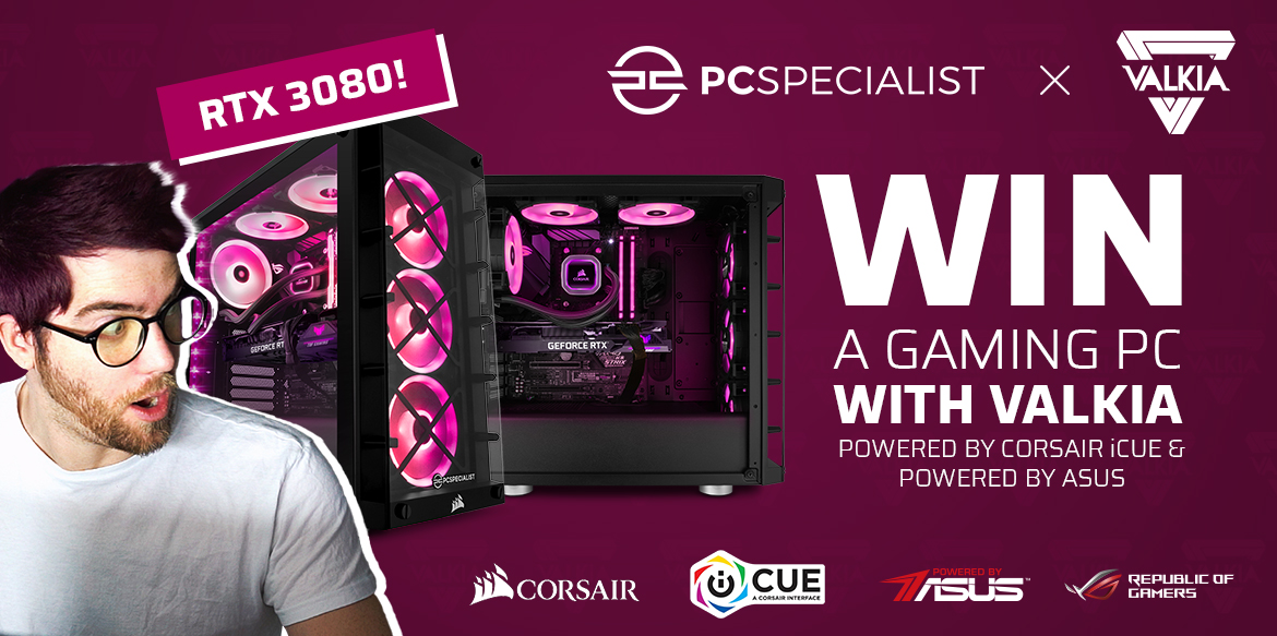 Did someone say free PC? 👏 Im giving away a gaming PC including an RTX 3080 from @PCSpecialist 👀 👉 bit.ly/valkia-giveaway #FreePC #FreeRTX3080 #ad