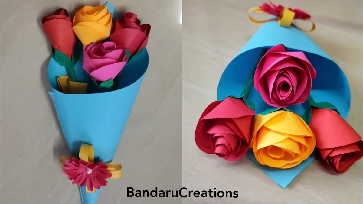 Bouquet of Flowers to wish your loved ones.. Have a look ... You will be fell into love with our crafts 😊 Link : https://t.co/MiApIEZdQT  #bouquet #paperCrafts #artsandcrafts #Crafts #love #gift https://t.co/lFR5R3tzJ1