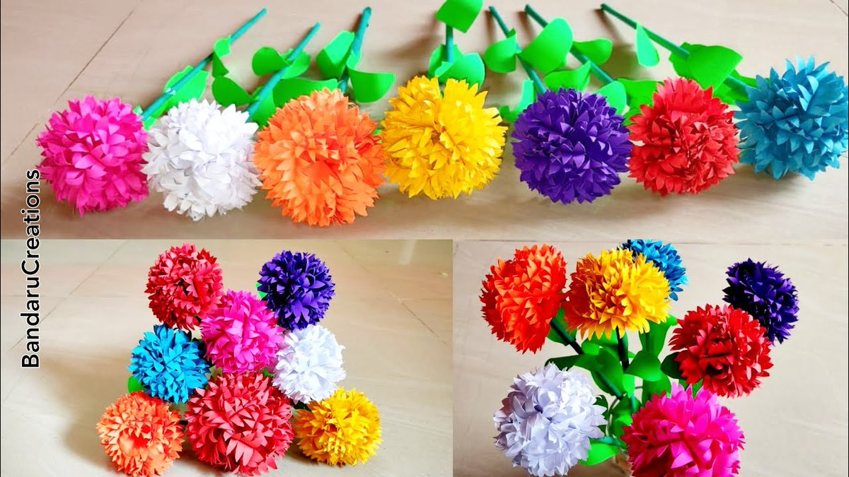 Beautiful Chrysanthemum Flowers Made With Papers  Bouquet Of Flowers... Link :https://t.co/WU1ths4Bmo  Please have a look  #PaperCrafts #artsandcrafts https://t.co/qYh4GaXFZb