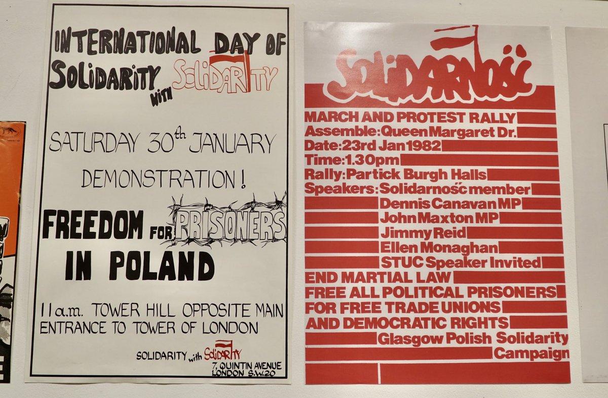 📆 Tylko do 5 października w @PoskGallery możecie obejrzeć wystawę plakatów i prywatnych pamiątek z okazji 40-lecia #Solidarność 🇵🇱 Gorąco polecam!✌🏻  @posklondon @BP_POSK #Solidarność40 #Solidarity40