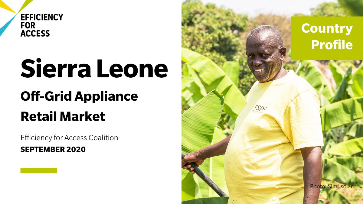 How can we grow the market for #OffGrid appliances in #SierraLeone?  💡Raise consumer awareness about the benefits of solar 🚛Incentivise the distribution & sale of solar products 💵Improve affordability 👱Extend consumer protection efforts  For more: https://t.co/6Uxadc4E3c https://t.co/FMO1uVIUue