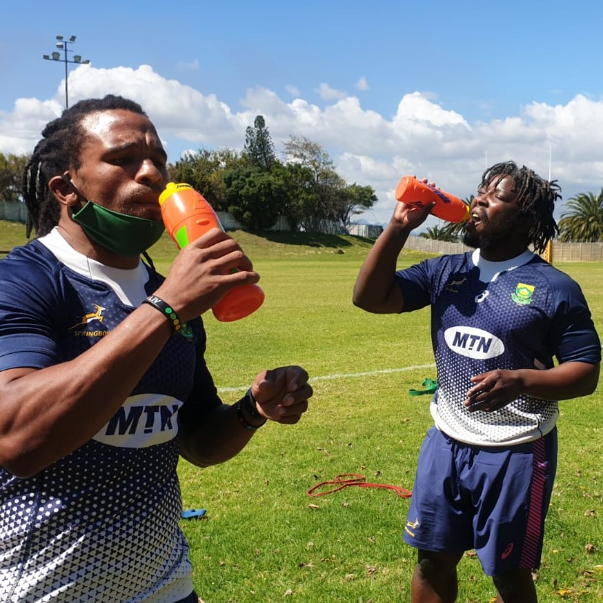 🟡 Springbok Gold squad in action - hydration supplied by @EnergadeSA! #StrongerTogether #ChasingTheSun