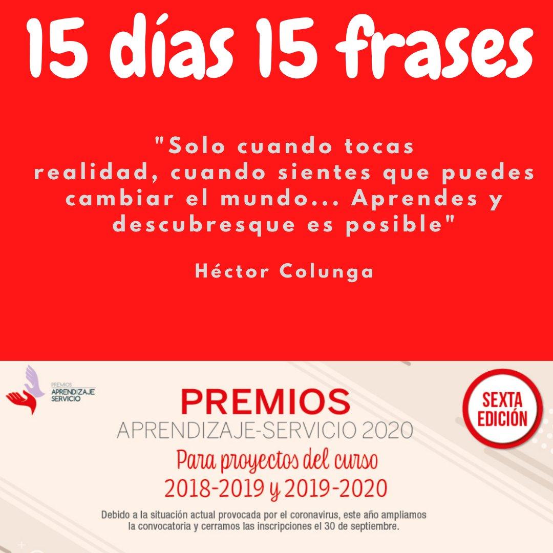 """""""Solo cuando tocas realidad, cuando sientes que puedes cambiar el mundo... Aprendes y descubres que es posible"""" Héctor Colunga 📌Candidaturas #PremiosApS20. ¡ANIMATE! Hasta el 30 de septiembre‼️ @GRUPOEDEBE  @educaSGCTIE @calixtohcc https://t.co/TaBnb6XOmG"""