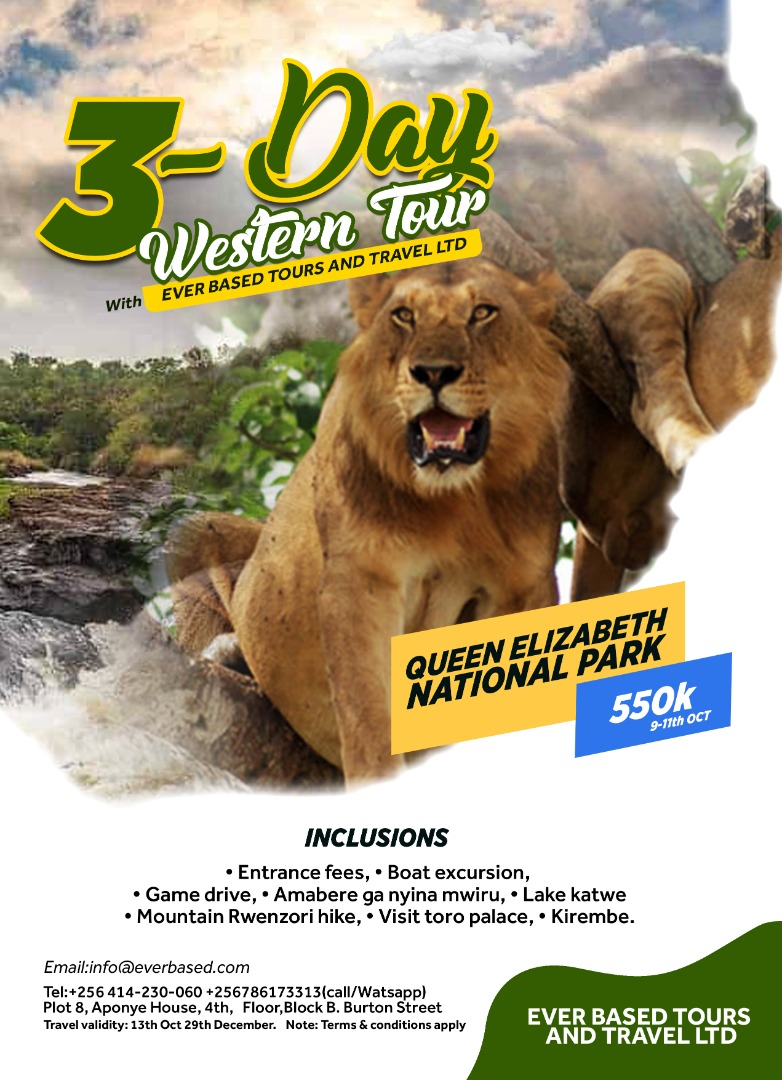 Join us on a 3 day tour of Western Uganda at 550k per person.  This offer will run from 9th October to 29th December 2020! Organize friends and family and come make memories with us👌  #Ugandasafaris #TulambuleUganda #tourism #touruganda  #TakeOnThePearl #VisitUganda https://t.co/TszoNNWEYG
