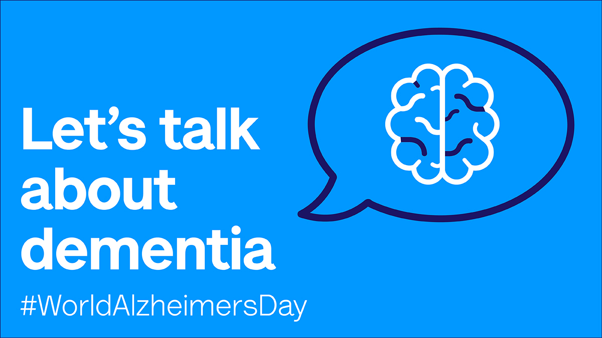 This #WorldAlzheimersDay, we're encouraging everyone to start a conversation about dementia.  Talking about dementia helps reduce the stigma & fear that surround the condition, and connects you with other people affected.  Visit https://t.co/TegxILPgm0 to get started today. https://t.co/uz2eDtHj2A