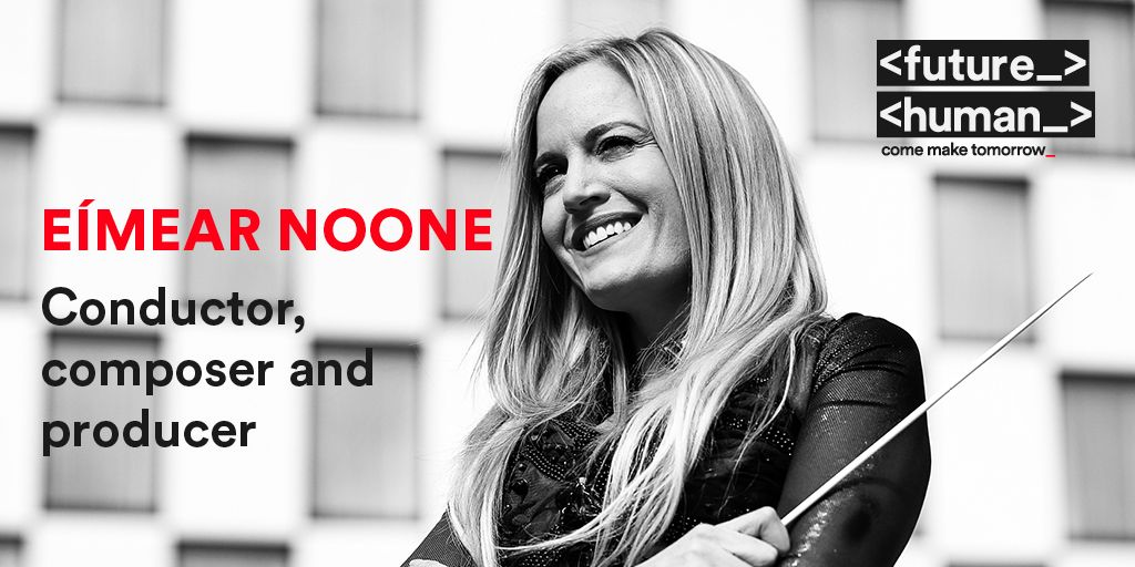 <FUTUREHUMAN SPEAKER _> @eimearnoone is an award-winning Irish composer & conductor. She is responsible for some of the most enduring gaming soundscapes. 2020 saw her became the first female conductor to perform at the Academy Awards. #FutureHuman Oct 29th-30th #ComeMakeTomorrow https://t.co/yVN8Lnmb9C