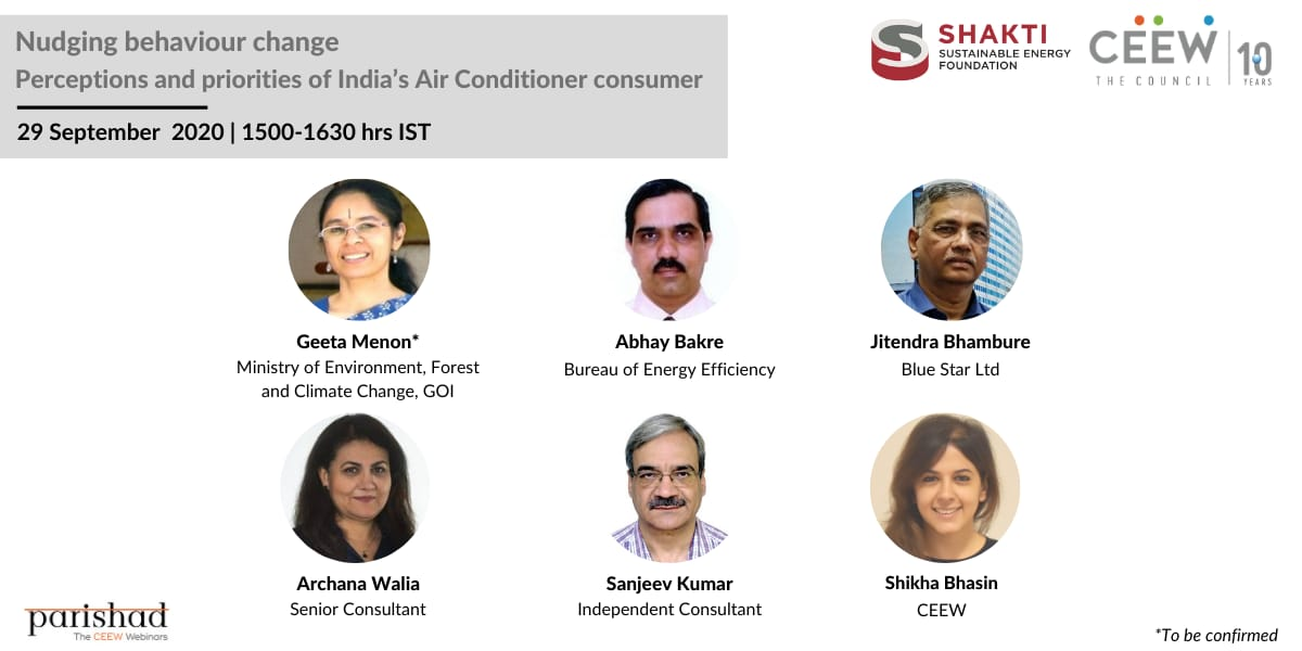 Have you registered for the #Parishad on Nudging Behaviour Change: Perceptions and Priorities of India's Air Conditioner Consumer?  #sustainablecooling #HFCs #ICAP #ClimateAction   Register: https://t.co/KBhEz81hRP @moefcc @shikha_bhasin @beeindiadigital @BlueStarLtd