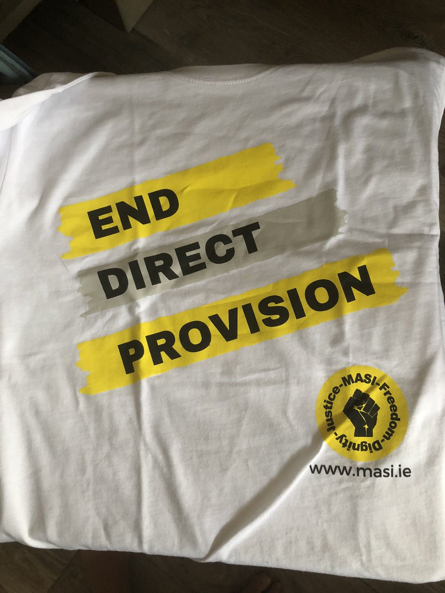 Thank you @masi_asylum for lovely T-shirt- this urgent message will be walking everywhere with me #enddirectprovision https://t.co/wy6YFPh31s