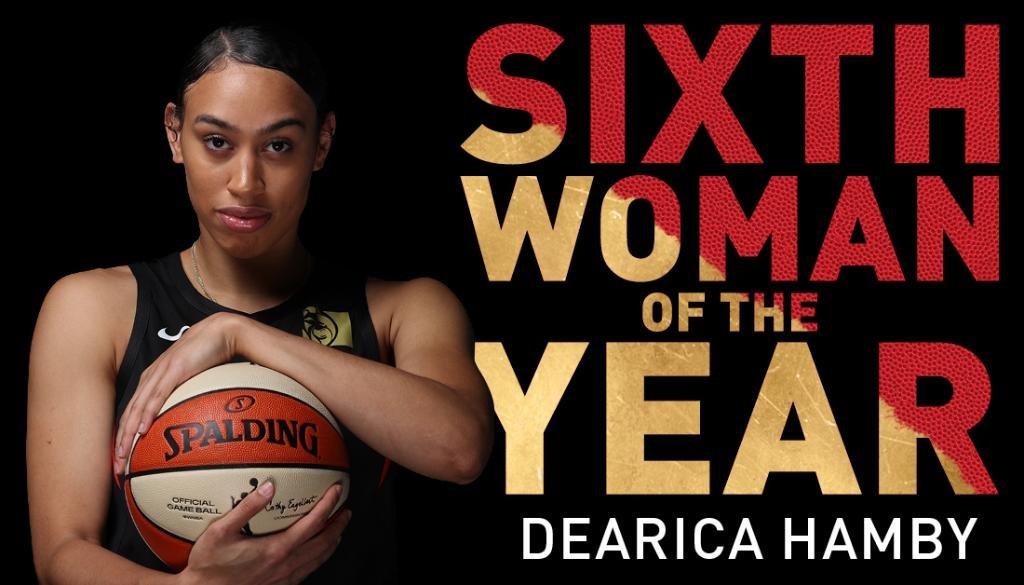 Dearica Hamby (@dearicamarie - @LVAces) Named 2020 WNBA Sixth Woman of the Year #WNBA #SixthWomanOfTheYear #Aces https://t.co/IFesRBUi4E https://t.co/6eLoqbr3EK