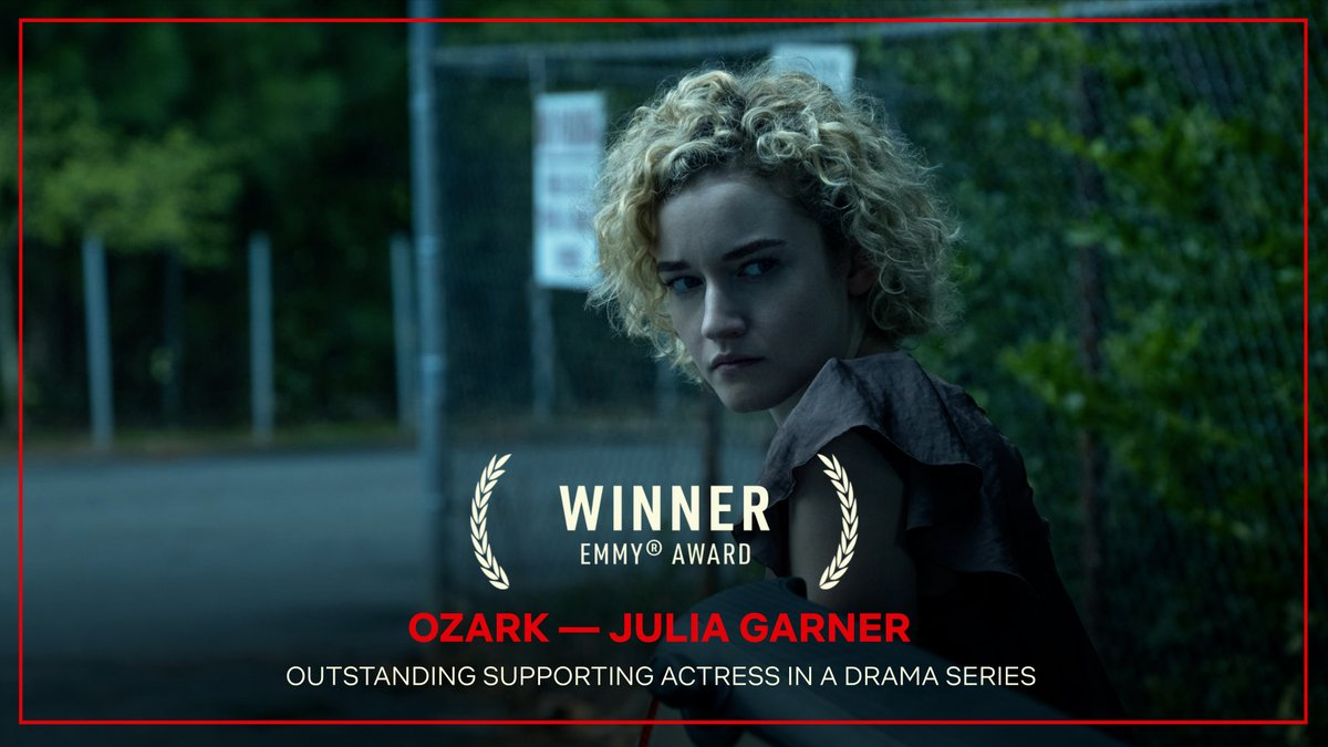 Congratulations to Ozarks Julia Garner — Winner of the Emmy Award for Outstanding Supporting Actress in a Drama Series! #Emmys