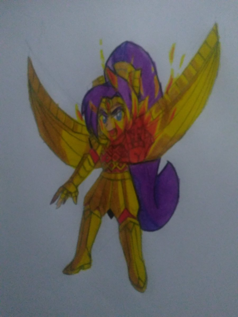 EXTRA: This time, I make the full armor of shantae with wings, but the armor has no name, what name would you give it? https://t.co/aHhgF7ULpA