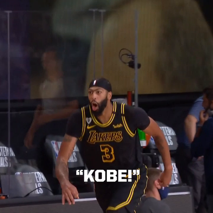 "Anthony Davis confirmed that he yelled ""KOBE!"" after drilling the game winning shot."