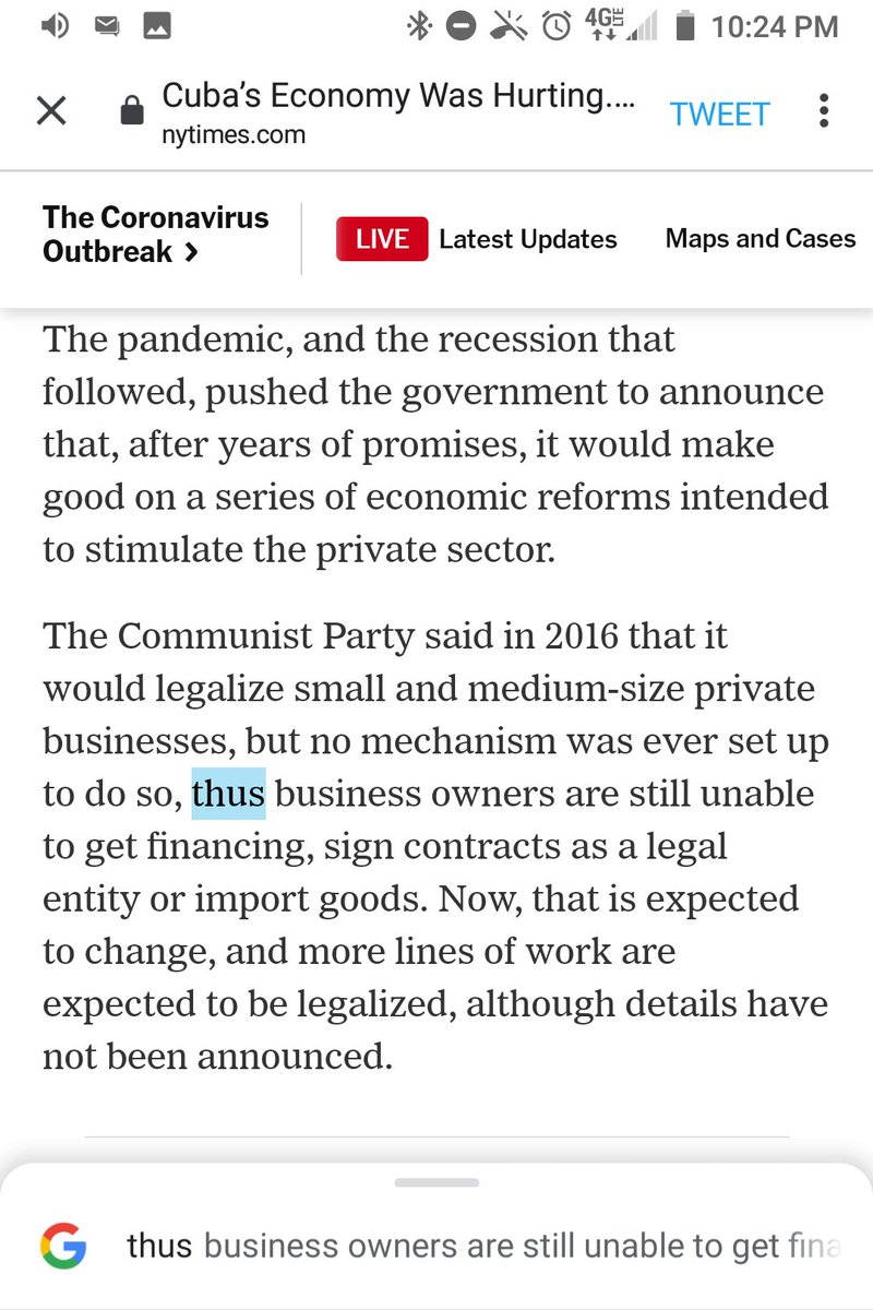 """@nytimes This is a comma splice.  You need a semicolon or period before """"thus.""""  @FrancesRobles https://t.co/cJivV5x3t5"""