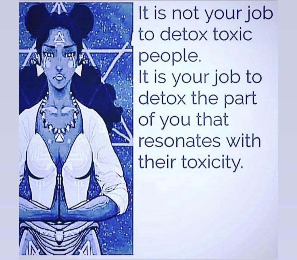No es tu trabajo desintoxicar a las personas. Es tu trabajo desintoxicar esa parte de ti que resuena con esa toxicidad. https://t.co/16YReNucQL