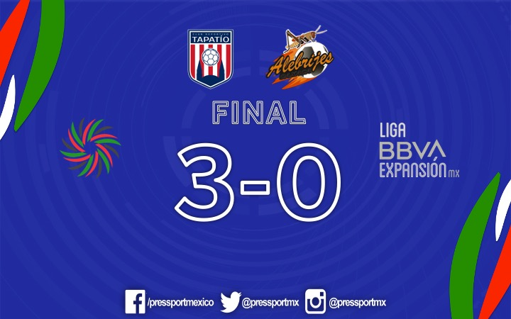 FINAL.   @TapatioCD derrotó por goleada a @AlebrijesOaxaca.  (3-0)  #LigaBBVAExpansionMX https://t.co/5IVCXVh0T5