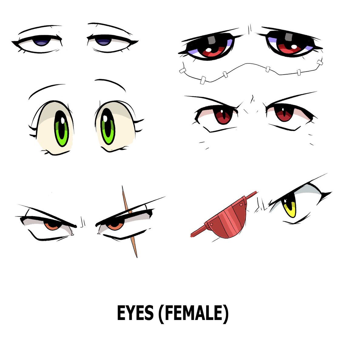 Also here's an eyes chart of all female OCs so far. https://t.co/At8weernZo