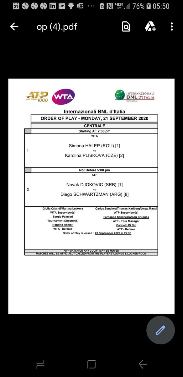 @LadyBellatrix Djokovic's record 52nd Masters Final and what will be his 36th Masters title...another record starts at 5pm today CET - just want to make sure you don't miss it #djokovicisthegoat #IBI20 #RomeMasters https://t.co/vAClCFjefN