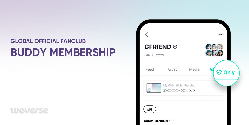 Want to join BUDDY Lounge, a secret place for #GFRIEND and BUDDY💘? Join BUDDY Membership and watch the unreleased content! ✔ Join for the first time OR renew your membership. ✔ Your Weverse and Weverse Shop account must be the same. Join now👉weverseshop.onelink.me/BZSY/46cf2696