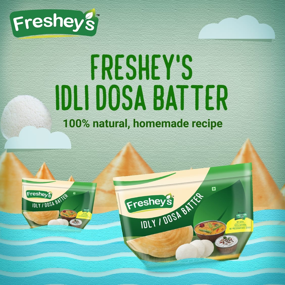 Traditionally made and 100% natural! Make the crispiest dosas in an instant with Freshey's dosa batter.  #Fresheys #TradionalMadeConvenient #SmartCooking #Dosa #TraditionalFood https://t.co/sUU6ZtCXMt