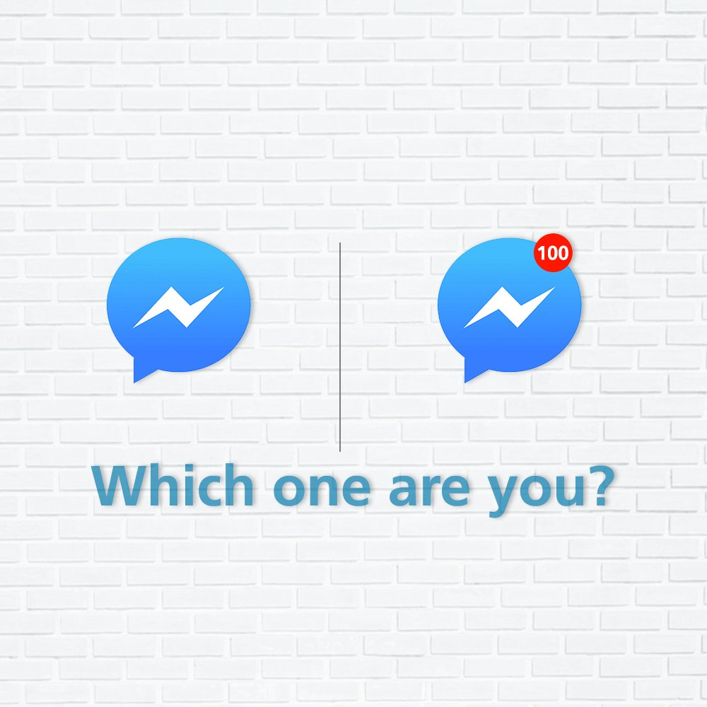 Some read all their messages right away and others have 1000 unread messages at all times. Tag a friend to tell them whose who! #TwoTypesOfPeople #ThisOrThat https://t.co/pleruZYXvO