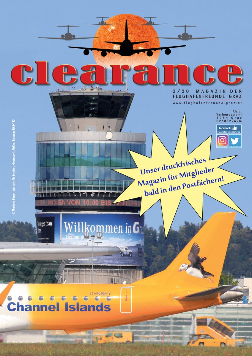 """Our NEW members' magazine """"Clearance"""" fresh off the press with awesome airplanepictures and interest information!  #GrazAirportclub #Clearance #Magazine #AvGeeks #Planespotting #Spotten #Споттинг #Aircraft #Самолёты #Авиация #Luftfahrt #Aviation #АвиаФото #AviationLovers #GRZ https://t.co/RP95bPvUOW"""