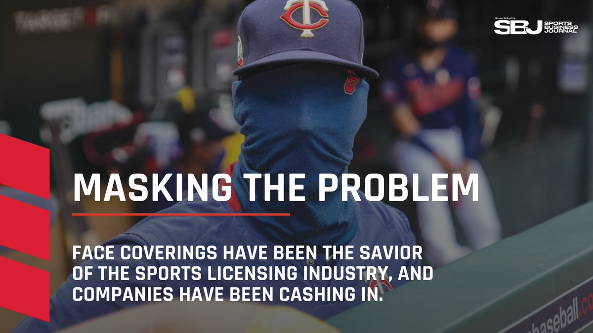 @BenFischerSBJ @SBJLizMullen @Wasserman @Bretjust1T Finally, Terry Lefton brings you the story on how face coverings are giving companies an opportunity to cash in, a saving grace for a #sportslicensing field hit hard by the pandemic.  https://t.co/v2Zv92Szuo https://t.co/sFPBh00BAY