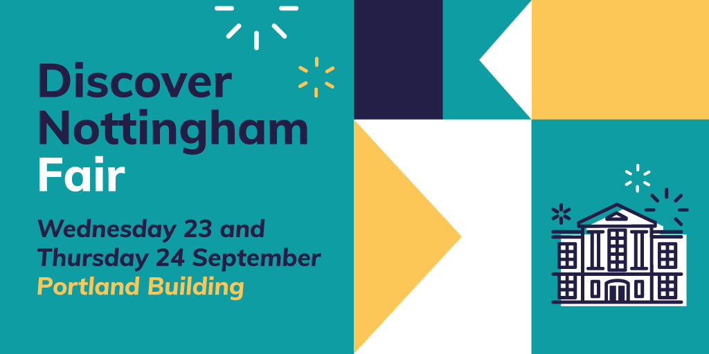 Book your space for our spectacular Discover Nottingham Fair 🎉   You can expect freebies, exclusive deals, discounts and plenty of pizza! 🍕  Book your space here ⬇️ Wednesday 23 September: https://t.co/UyejwOSb9P Thursday 25 September: https://t.co/UpSWGxmR2G https://t.co/GHuty2mIUZ