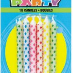 Image for the Tweet beginning: Diamond Patterned Birthday Candles Assorted