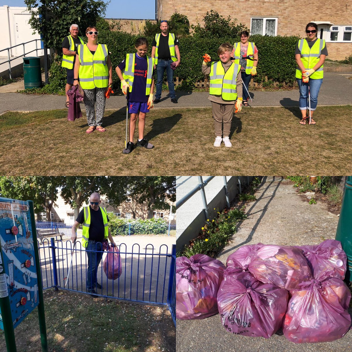 A HUGE thank you to Templar's Community Association for organising a litter pick & collecting these bags of waste in their local area.  An absolutely awesome effort which we appreciate so much 💚🙏  #GBSeptemberClean #litterheroes @KeepBritainTidy https://t.co/QXeig23M7j