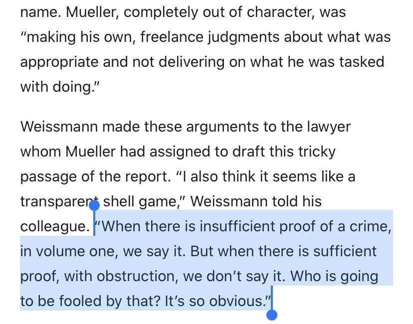 👀 Mueller deputy Andrew Weissman says they proved Trump committed obstruction of justice but Mueller team was too timid to say it explicitly. https://t.co/yhTAAZ60D3 https://t.co/xyi4v8PeUl