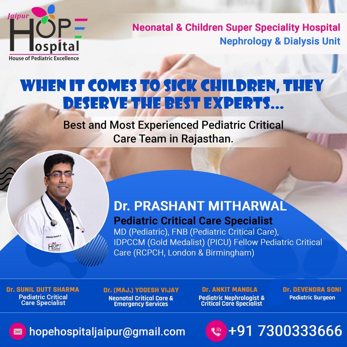 When it Comes to Sick Children👶, They Deserve the Best Experts☺️...  𝗖𝗼𝗻𝘁𝗮𝗰𝘁 & 𝗩𝗶𝘀𝗶𝘁 𝗳𝗼𝗿 𝗺𝗼𝗿𝗲 𝗱𝗲𝘁𝗮𝗶𝗹𝘀:👉  𝗣𝗵𝗼𝗻𝗲 𝗡𝗼. - 7300333666/7300333777  𝗪𝗲𝗯𝘀𝗶𝘁𝗲 - https://t.co/kWz8hFUjAj  #hopehospital #neonatology #pediatric #newborn #neonatal #child https://t.co/xWxpp78hn8