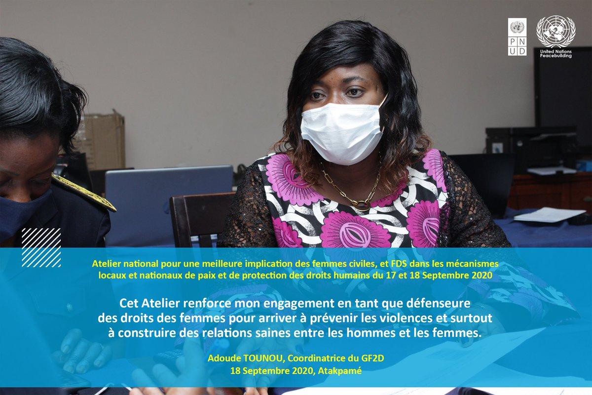 Pour une #Paix #Durable au 🇹🇬les femmes togolaises proposent des pistes de solutions🗣 @PnudTogo @DamienMama @MAFrancheUN @TogoOfficiel @UN_Togo @UNDPAfrica @UNPeacekeeping @WanepTogo @aliouMdia  #2 https://t.co/JgTEW39gqb