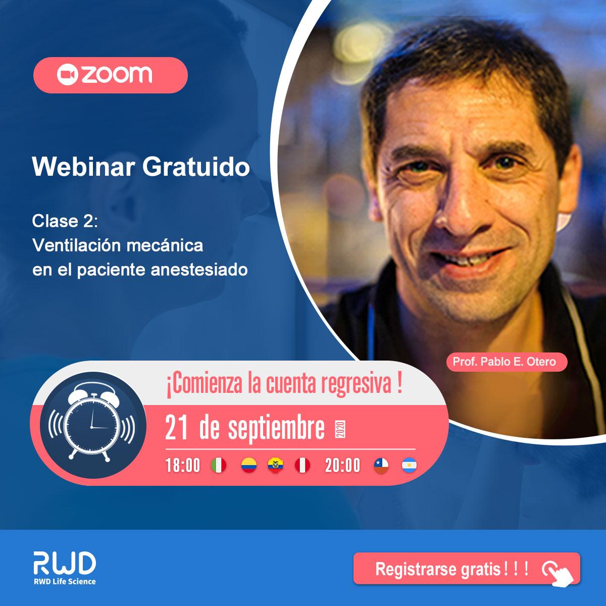¡Cupos limitados! Hoy! La segunda clase de las series de Webinares de Prof. Pablo E Otero empezará a las 18:00 (Hora Mexicana)  del 21 de septiembre.  ✍Registrarse gratis: https://t.co/deDfv7wFvV  #Vet #Pet #Veterinario #Anestesia #Ventilador #Webinar #RWD https://t.co/X0JpJJRUbk