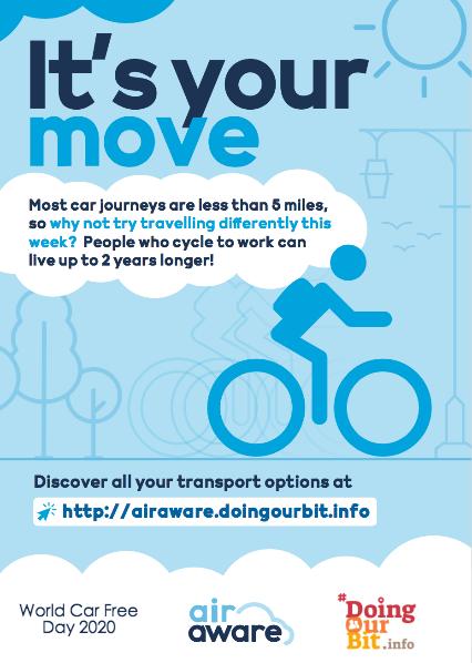 It's #WorldCarFreeDay tomorrow!  How can you leave the car at home for just a day?  Explore all your options at https://t.co/oxcS6Tp3M8  @ActiveStaffs #activetravelstaffs https://t.co/iok8bDTuXD
