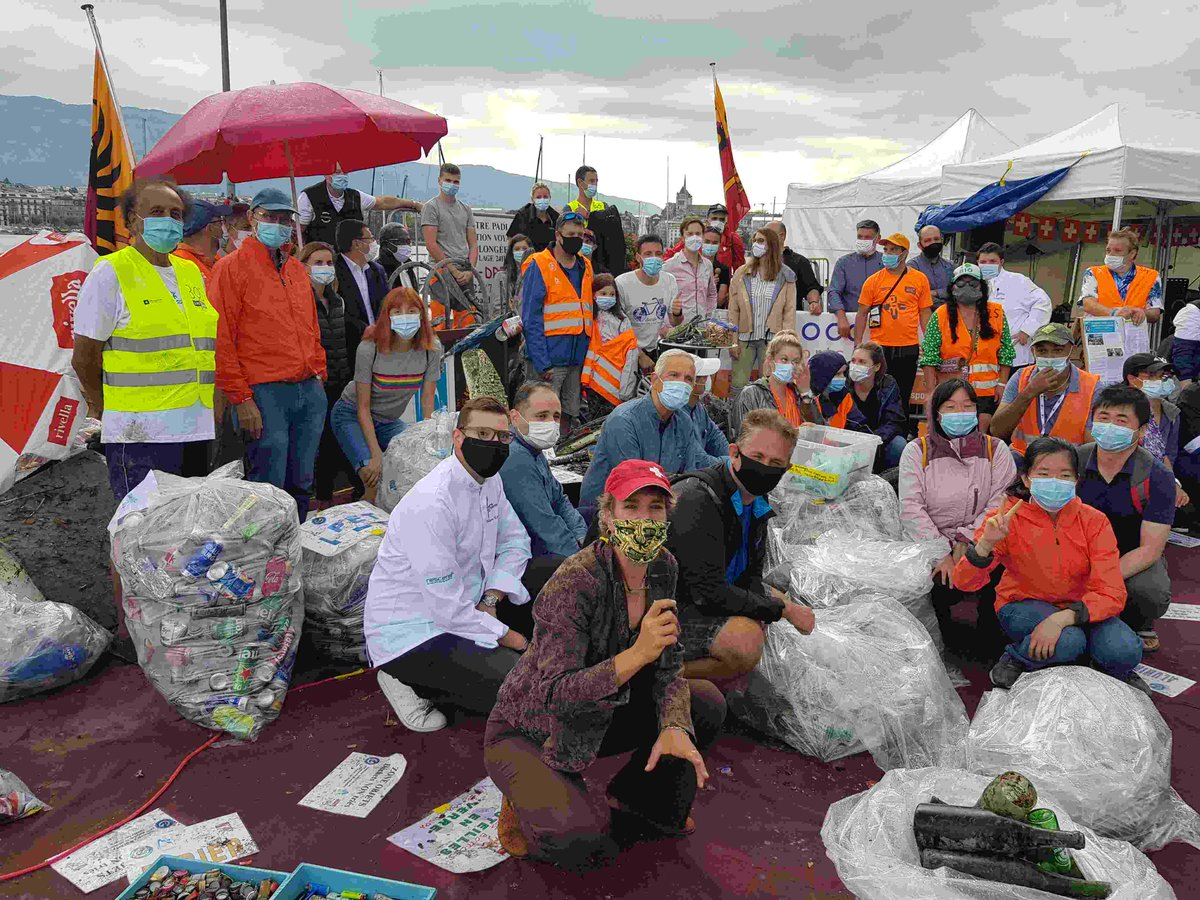 A fantastic start to #AWAREweek! Nothing can stop Patty Moll and Scuba-Dream! This year, in addition to the plastic bottles, tires, beverage cans, etc. ... the volunteers also recorded 112 face masks from the lac and its surroundings! https://t.co/2ufW0Hq1sB https://t.co/ZVS24BBycx