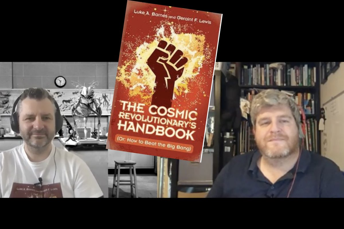 "Had a great chat with @Cosmic_Horizons and @lukebarnesastro  about their book ""Cosmic Revolutionary Handbook  @CRHandbook "" as well as other science stuff. Stay tuned for the book review and interview https://t.co/EqM3VCRNbt"
