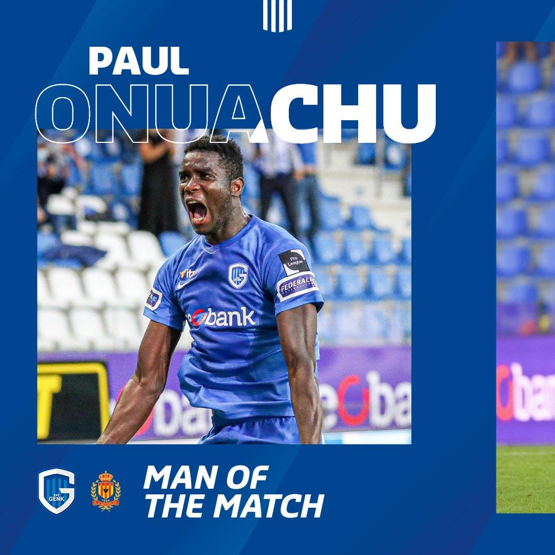 Jullie man van de match na twee doelpunten: Paul Onuachu. 💙💪  #krcgenk #gnkkvm #mijnploeg https://t.co/lOWpsYhXec