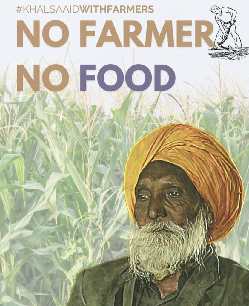 Being a member of @Khalsa_Aid .. I support the farmers... #khalsaAidWithFarmers https://t.co/L9JUyaQ5NF