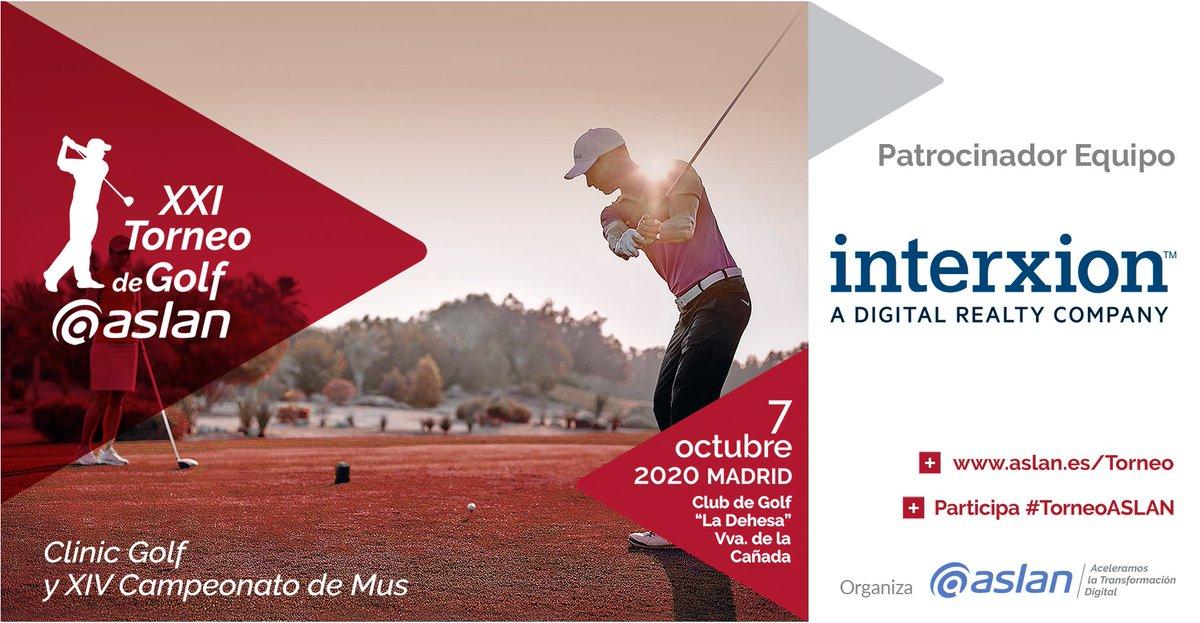 En el XXI #TorneoASLAN de Golf @InterxionSpain contará con un equipo patrocinado. 7 OCT en #Madrid https://t.co/vqvnGZmA0c #UneteASLAN https://t.co/9Q3zqJWnze
