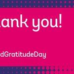 Image for the Tweet beginning: For #WorldGratitudeDay, we want to