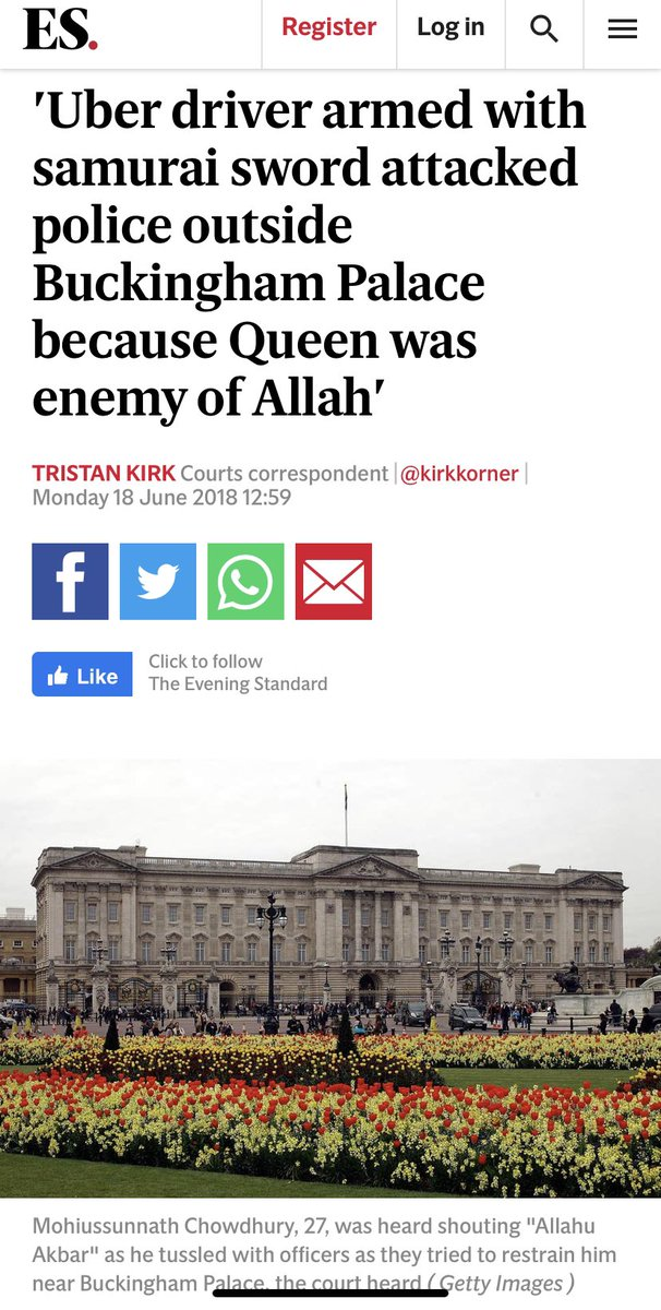 Some ask if UBER pass data to the police why did one of their drivers armed with a samurai sword attack officers & endanger the queen now UBER claims the @metpoliceuk support their license renewal would the @metpoliceuk care to comment...? https://t.co/OLVR8iLh3P