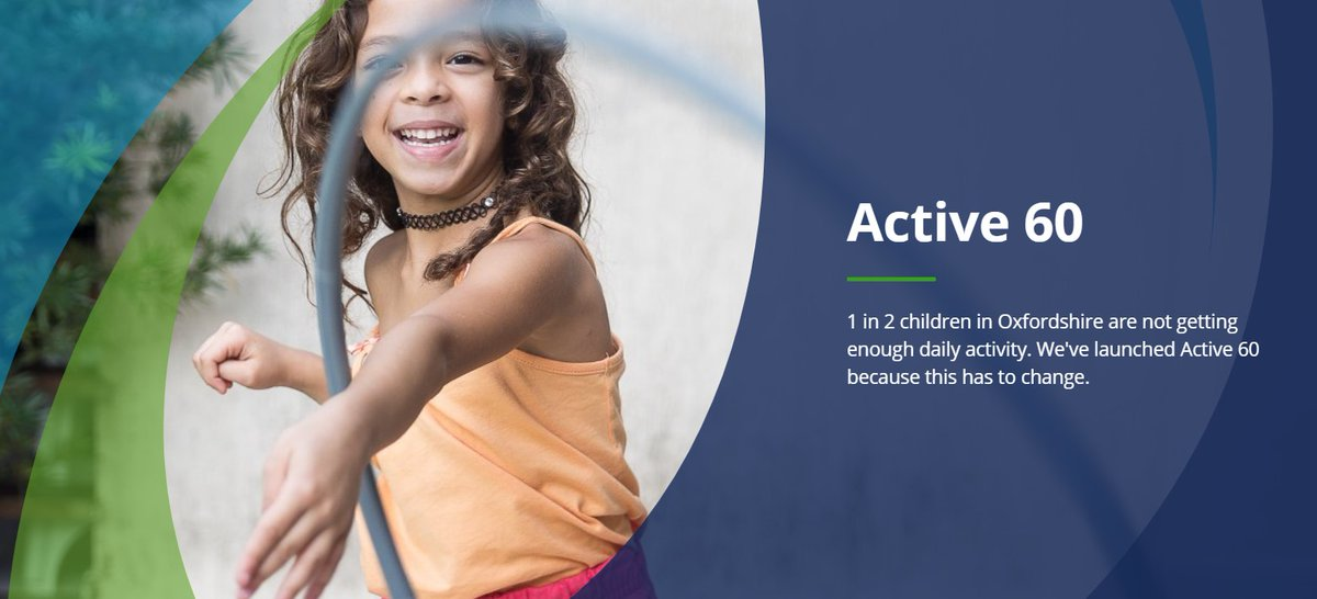 1 in 2 children in Oxfordshire are not getting enough daily activity. We've launched #Active60 because this has to change. Find out how you can help here: https://t.co/QSk4oFuLXL