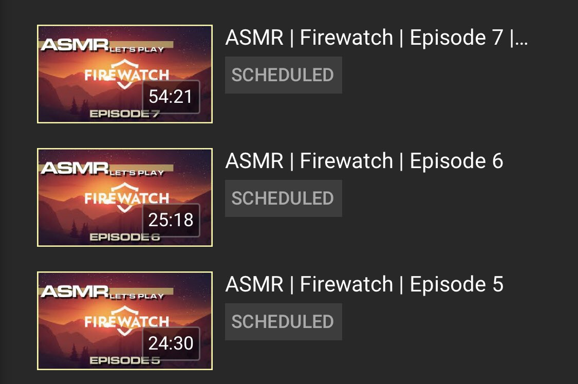 When you have a wedding to attend and the next 3 days won't give you time to record and edit; 3 episodes edited in 1 day. 😴🥱👻  #Firewatch playlist:  https://t.co/7nfUsYd6D9 https://t.co/3l7IWnjaPO