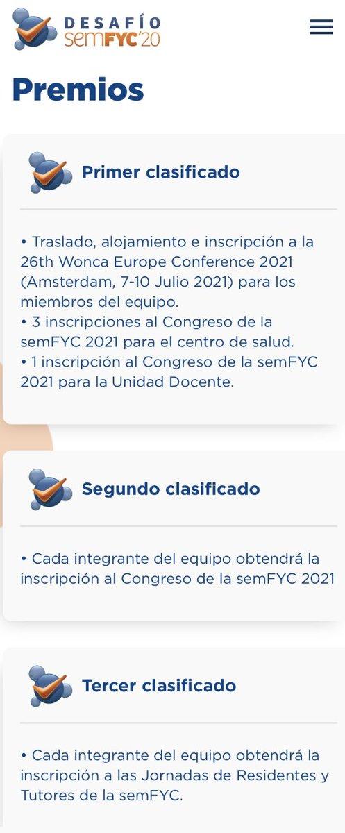 #FelizSemana #equipos!   🏆🏆🏆  Os recordamos los #premios a los que optáis sumando #puntos con cada #caso del #desafio @semfyc   🥇🥈🥉  https://t.co/OsYmyi5KpV  #MFyC  #AtencionPrimaria #MedicinaFamiliar https://t.co/a3eX07DiLo