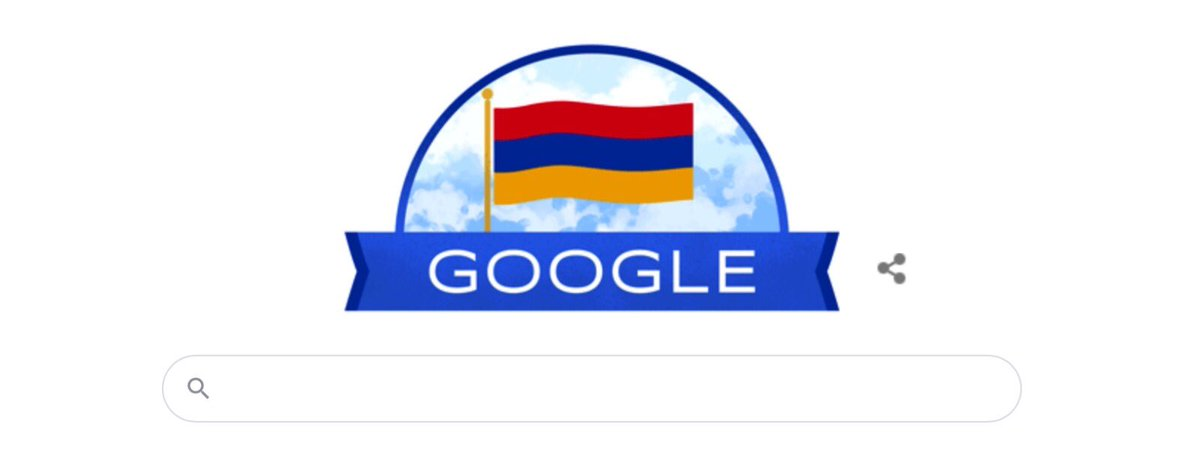 Nice congratulatory message from @GoogleDoodles on #Armenia's #independenceDay🇦🇲. https://t.co/kZaQvU5sf3
