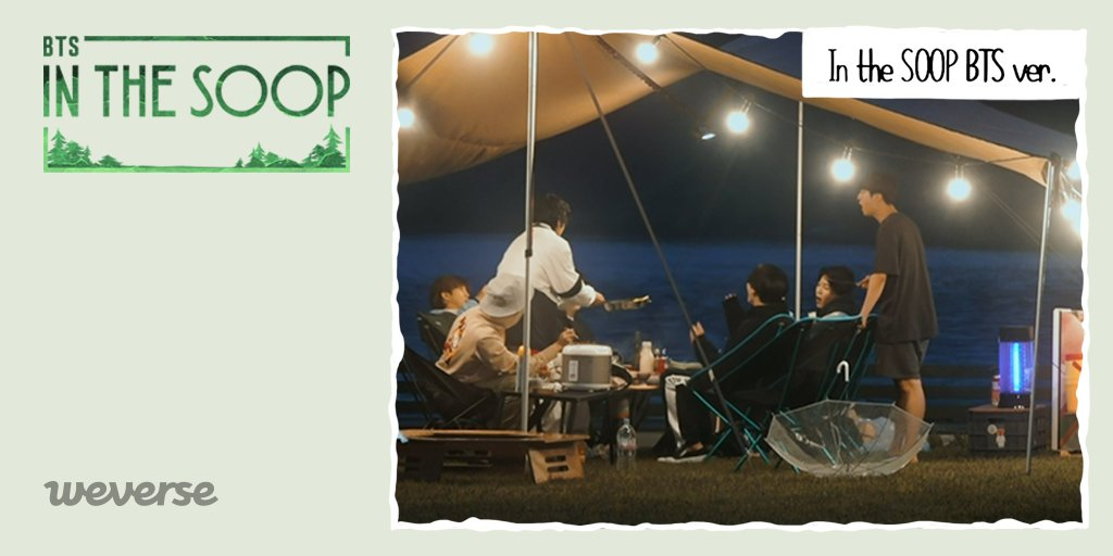 Just cant get enough of #In_the_SOOP BTS ver.🌳! Catch up on BTS in the forest so far with a video! Highlight Clip EP. 1 ~ 4👉weverse.onelink.me/qt3S/83638639 If you missed an episode, watch it on #Weverse!! Buy the VOD for 8 episodes & behind-the-scenes👉weverseshop.onelink.me/BZSY/184f728f