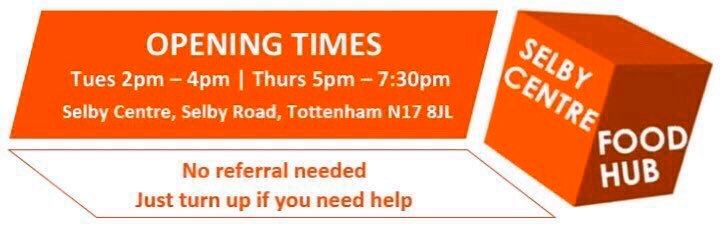 The Selby Centre Food Hub is open (Thu) 5pm - 7:30pm. Address: Selby Centre, Selby Road, Tottenham, N17 8JL - No referral needed - No voucher required - No immigration checks - We welcome people with 'no recourse to public funds'   Please come, we're here to help. https://t.co/rfUjK54n34