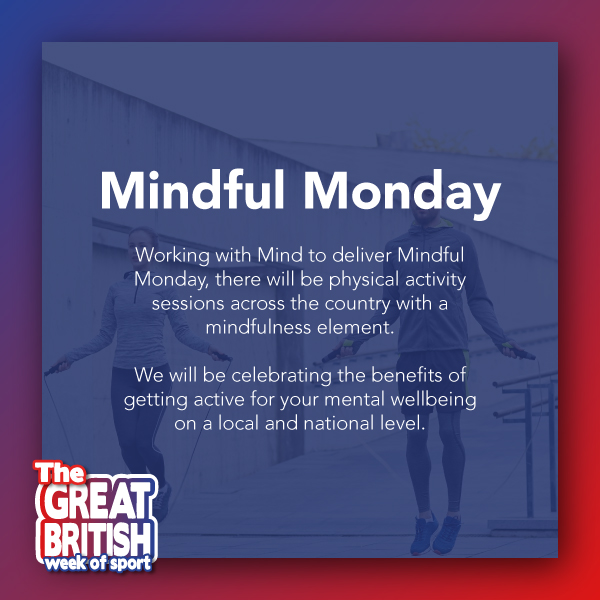 Today is Mindful Monday with @MindCharity, as part of Great British Week of Sport, and we will be celebrating the amazing mental benefits of physical activity! 💪💆‍♂️  #BeActive and mindful in your local area today: https://t.co/6D8tEXaJ4i https://t.co/Za1SI3d1Ak