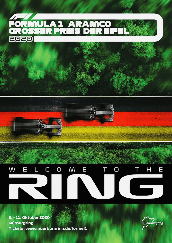 Check out the official poster for the Eifel Grand Prix at the Nürburgring. #AMuS #F1 #EifelGP https://t.co/uHBNGzWcCQ