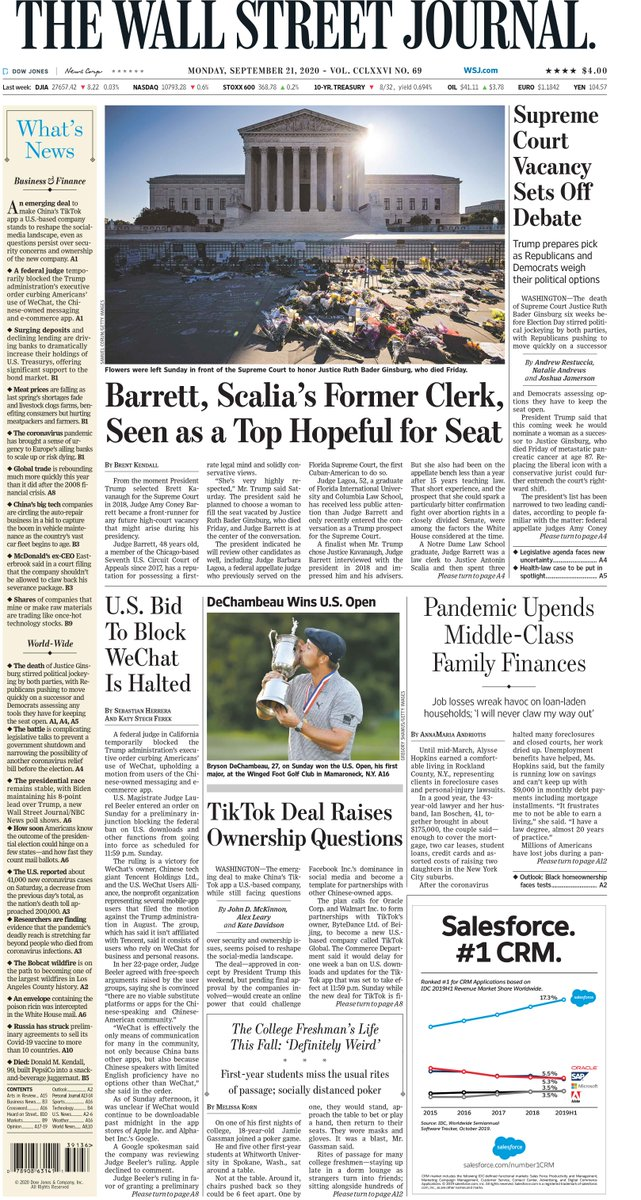 Take an early look at the front page of The Wall Street Journal wsj.com